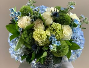 Blue Mood Floral Arrangement Damselfly Flowers